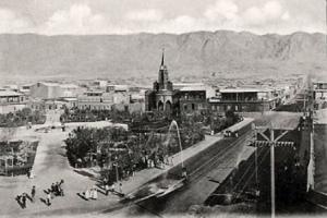 Plaza Colón de Antofagasta en 1906