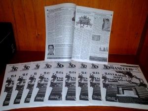 Primeros ejemplares de El Amanecer de mayo.